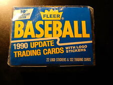 FLEER BASEBALL 1990 UPDATE TRADING CARDS WITH LOG STICKERS!   SS113CXX