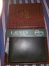 Lauren Ralph Lauren Men's Soft Burnished Leather Bifold (Passcase) Wallet Black