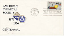 POSTAL HISTORY - FIRST DAY COVER FDC 1976 CHEMESTRY ISSUE BY AMER. CHEMICAL. SOC