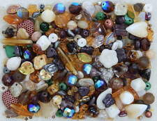 1/4 LB Pound Lot Assorted Czech Glass Fall Autumn Harvest Earthtone Bulk Beads
