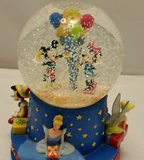Hallmark disney mickey cinderella snowglobe musical walts 100th wish upon a star