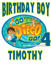 New Go Diego Go Birthday Personalized T Shirt Party Favor Birthday Present Gift