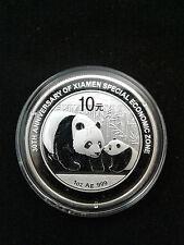 2011 1 oz .999 Fine SIlver China 30th Xiamen Special Economic Zone Panda