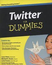 Twitter For Dummies Fitton, Laura, Gruen, Michael, Poston, Leslie Paperback