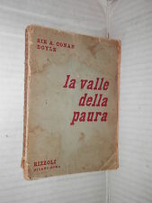 LA VALLE DELLA PAURA A Conan Doyle Rizzoli Prima edizione 1950 libro romanzo di
