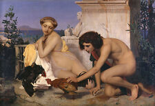 Young Greeks attending a Cock Fight Jean-Leon Gérôme juegos gallo b a3 02536