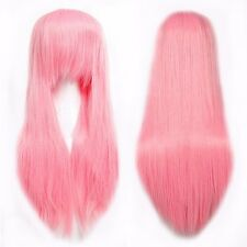 Multicolor Halloween Wig Real Deluxe Cosplay Long Curly Wavy Layer Full Wigs ssb
