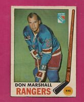 1969-70 OPC # 39 RANGERS DON MARSHALL FAIR CARD (INV# A1589)