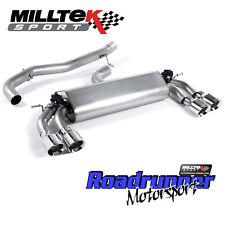 "Milltek Golf R MK7.5 Exhaust Cat Back 3"" VALVED Non Res Polished GT100 2017 on"