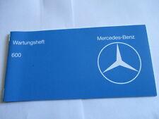 Benz Carnet D'Entretien W 100 W100 600 Scheckheft Livre de Manuel Service Plan