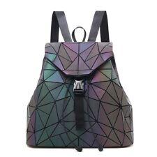 cda4114267 Women Large Luminous Geometric Rhombic Backpack Travel Bag with Drawstring