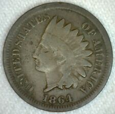 1864 Indian Head One Cent US Coin Good 1c US Bronze Penny Circulated