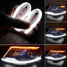 2x 45CM Car LED Light Strips Flexible Tube DRL Daytime Running Turn Signal 12V