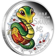 Lunar II Year of the Snake 2013 1/2 Oz Silver Babysnake