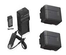 2X Batteries + Charger for Panasonic HDC-SD800P HDC-SD900 HDC-TM900 HDC-TM900PC