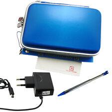 5in1Set New Nintendo 3DS, DSi XL, 3DS XL Tasche + Ladekabel + Stift - blau