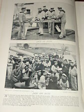1896 SAILORS AT WORK / OFF DUTY - MARINES ETC