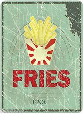 Fries 1900 Novelty Aluminum Retro Sign P01