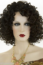 Chic Long Medium Human Hair Blend Heat Resistant Blonde Brunette Red Curly Wigs