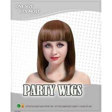 Perruques et toupets bruns longues sans marque pour femme