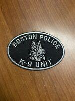 K9 unit boston police patch