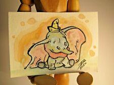 Disney Dumbo Original Watercolor Painting ACEO Card
