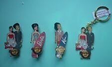 Hard Rock Cafe Barbie & Ken Pins & Key Chain Set~2011 Spring Break Convention