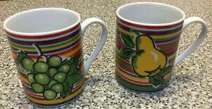 2 beautiful I Godinger & Co Stripe Mug pear and grapes
