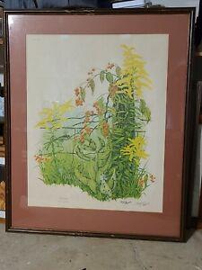 """Maryrose Wampler """"Goldenrod"""" Signed Framed & Matted-Plate 13 (Print behind frame"""