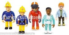 Fireman Sam Collection of 5 Articulated Figures Sam Tom Nurse Flood Norman Penny