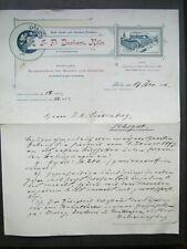 Brief von J.P.Bachem Druckerei in Köln von 1892 an Prokurist Joh.Andr.Seidenberg