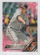 Zach Britton (#63) 2016 Topps red border serial MINI card 5/5 Baltimore Orioles