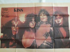 RARE KISS CREATURES OF THE NIGHT POSTER 1983 AMIGA ESPECIAL MAG RADIO MANCHETE