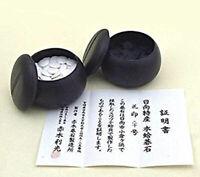 Japanese Go Stone Goishi Game Piece Set  Black White Shell From Japan