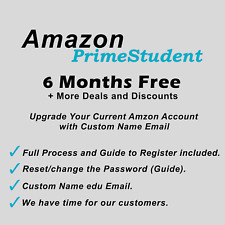 Amazon Prime Video 6 months Benefit Music & Video Easy-Upgrade (CUSTOMIZED NAME)