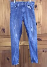 H&M Skinny Low Waist 31/32 &Demin Distressed Acid Wash