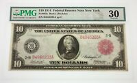 1914 $10 Federal Reserve New York Red Seal Note Fr #893a Burke/McAdoo