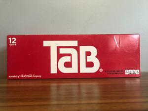 Tab Soda 12-Pack Soft Drinks Tab Soda Exp: May 10, 2021