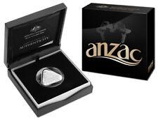 AUSTRALIA 2015 $5 TRIANGULAR ANZAC CENTENARY FINE SILVER PROOF COIN -SCARCE