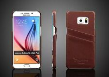 GENUINE LEATHER CASE WITH TWO CARD SLOT FOR SAMSUNG GALAXY S6 EDGE PLUS