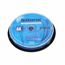 10 AONE Blu-Ray Disc stampabile a getto d'inchiostro bianco 25GB 4x BDR25gb DISCHI VUOTI BDR 25gb