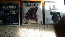 Call Of Duty Bundle (PS3) MW3, GHOSTS AND ADVANCHED WARFARE TESTED FREE SHIPPING
