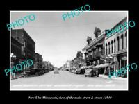 OLD LARGE HISTORIC PHOTO OF NEW ULM MINNESOTA, THE MAIN STREET & STORES c1940