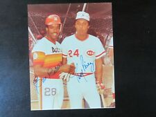 Cesar Cedeno & Tony Perez 8 X 10 Autograph / Signed Photo Cincinnati Reds