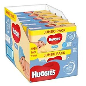 Huggies Natural Care Baby Wipes 10 Pack 72 for Sensitive Skin Gentle on Baby 720