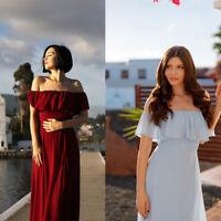 Ever-Pretty US Off Shoulder Evening Dresses Split Long Bridesmaid Dresses 07171