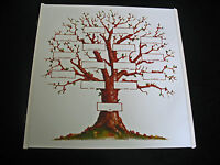 CREATIVE MEMORIES 12x12 FAMILY TREE REFILL PAGE, TREE DESIGN, BLACK, NATURAL