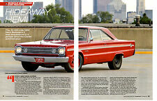 1966 PLYMOUTH BELVEDERE II HEMI ~ NICE 6-PAGE ARTICLE / AD