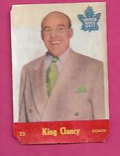 1955-56 PARKHURST LEAFS COACH KING CLANCY  GLUE CARD (INV# C1024)