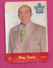 1955-56 PARKHURST LEAFS COACH KING CLANCY  GLUE CARD (INV# C1024)